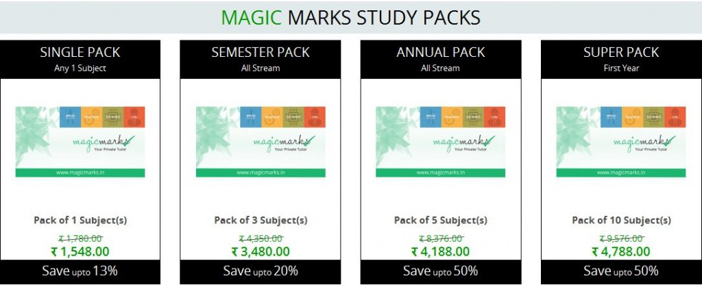Magic Marks Study Packs
